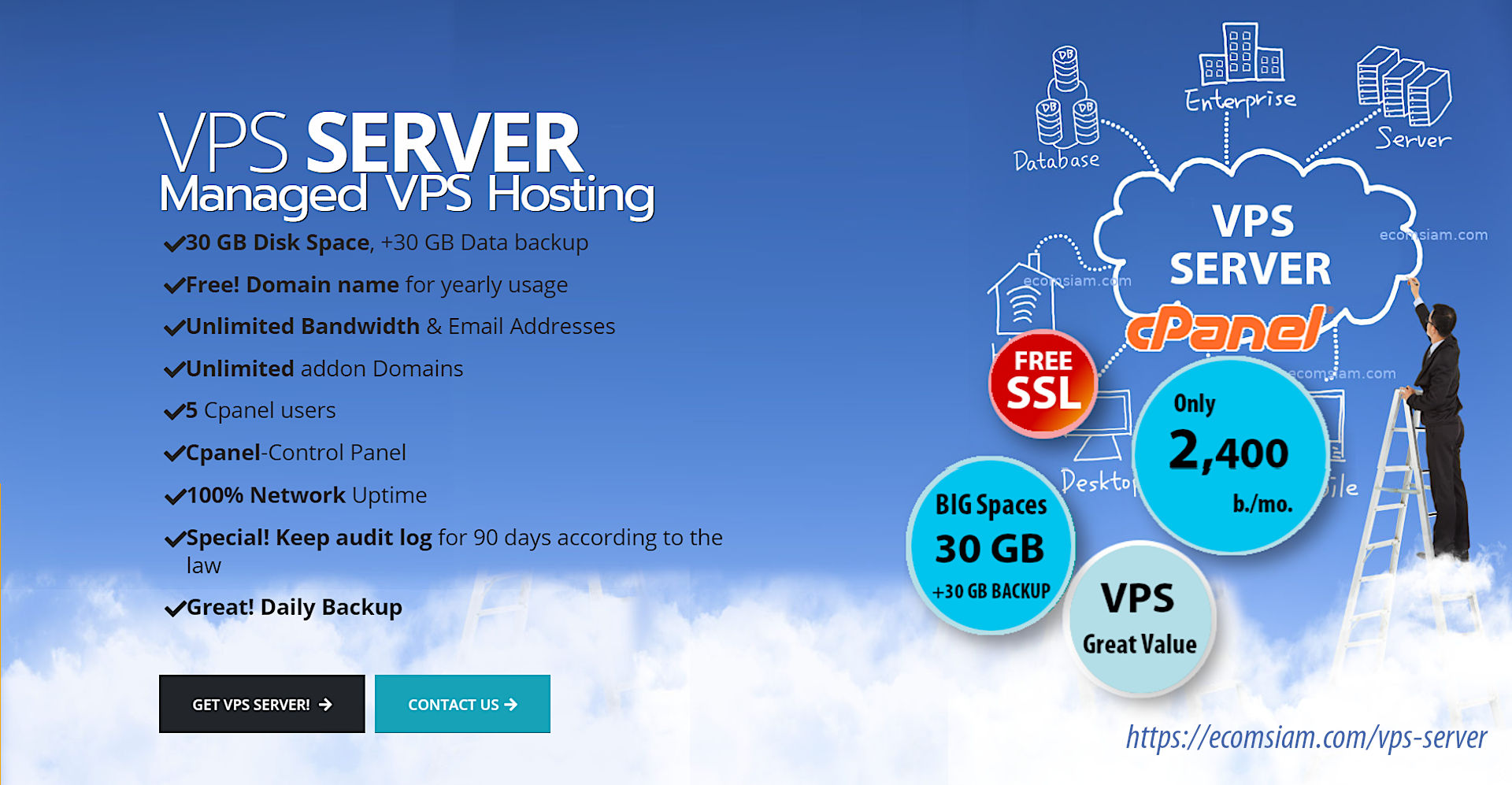 VPS Hosting-virtual Private Server (vPS).Vps server : unlimited website : 5 cpanel users...PRIVATE Name Servers,unlimited banwidth,unlimited domains (Addon host),unlimited email,SSL ready...FULL Root Access and many more